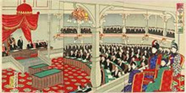 The Meiji Era formally begins.