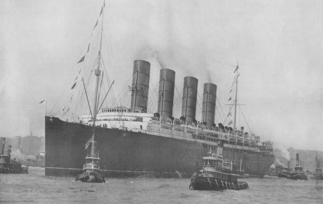 The RMS Lusitania is sunk