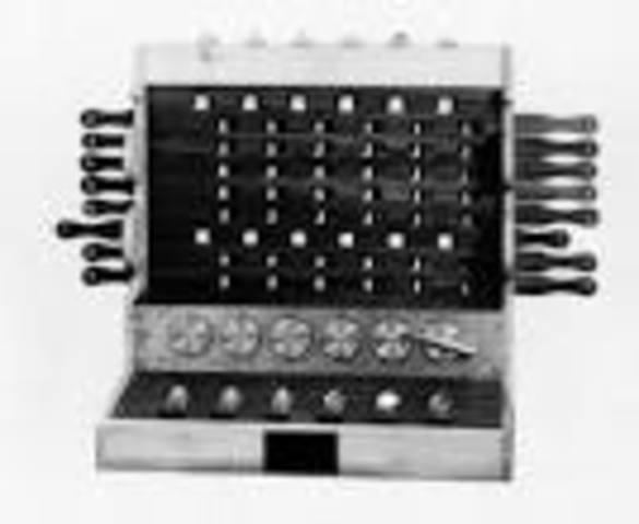 Primer caclculadora mecánica