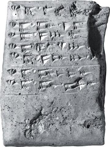 Ras Shamra script, c. 1500 BCE