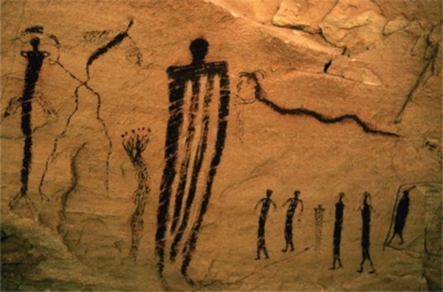 Fremont rock painting from San Raphael Swell, c. 2000–1000 BCE.