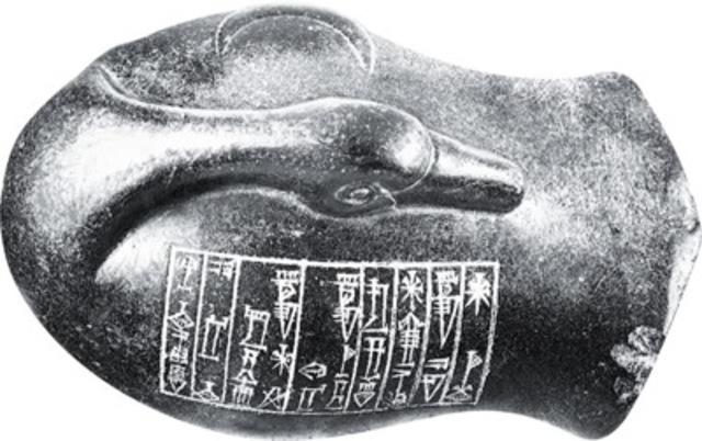 Black stone duck weight, c. 3000 BCE