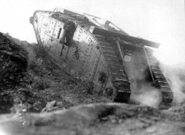 First use en masse of tanks at the Somme