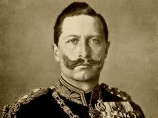Kaiser Wilhelm II flees Germany