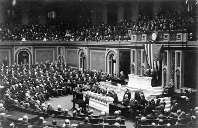 President Wilson and the U.S. Declare War on Germany