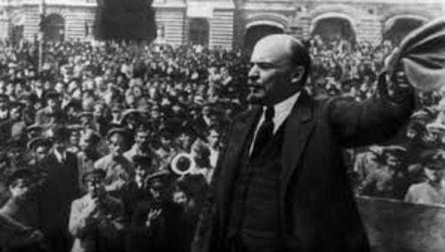 Lenin and the Bolsheviks seize power in Russia.