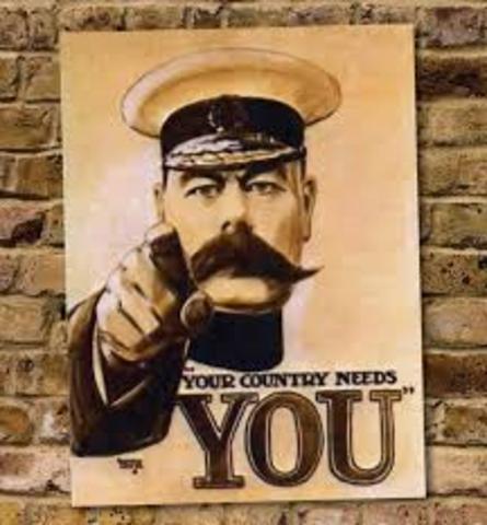 Conscription introduced in Britain.