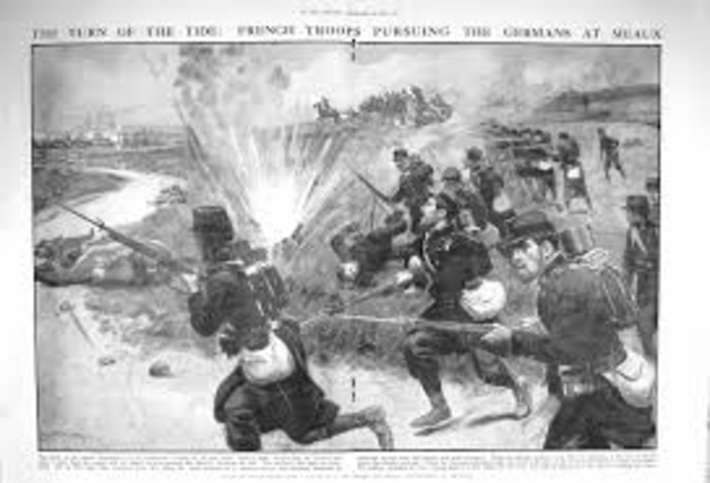 The First Battle of Marne rages on
