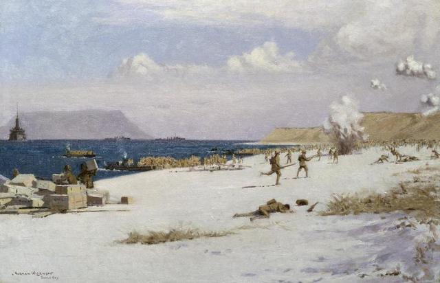 troops land in Gallipoli