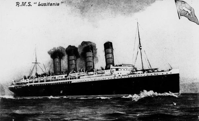 """The """"Lusitania"""" was sunk by a German U-boat."""