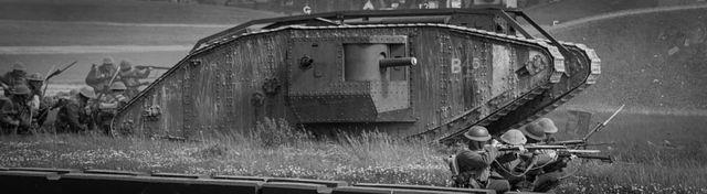 british tanks are used at Cambrai