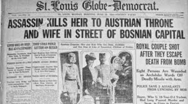 Austria declares war on Serbia.