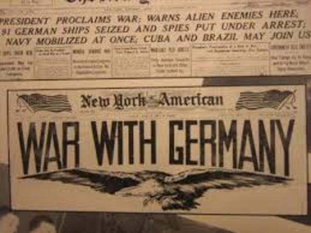 United States declared war on Germany.