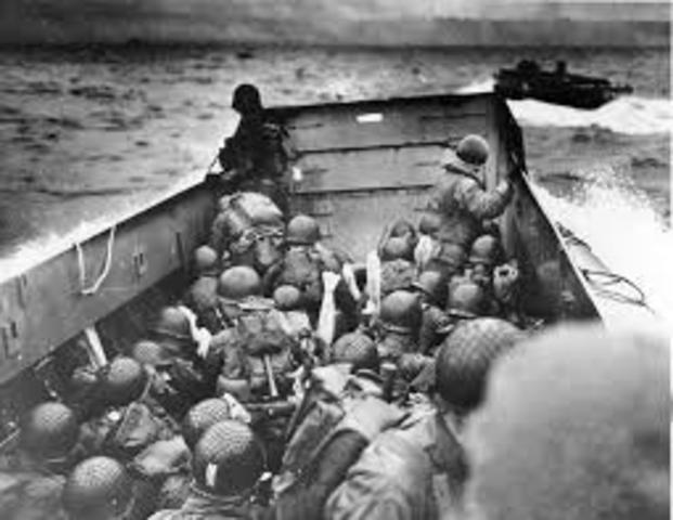 American troops began landing in France.