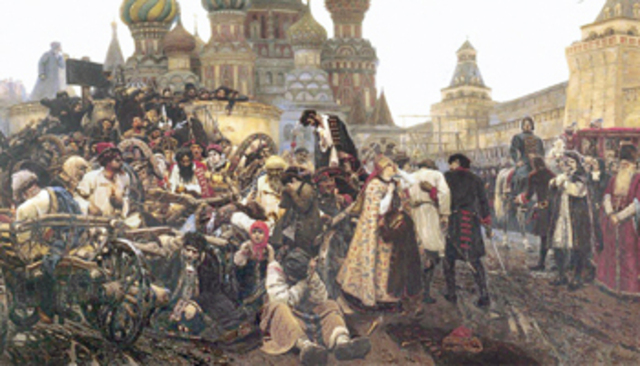 Восстание стрельцов в Москве.-1698