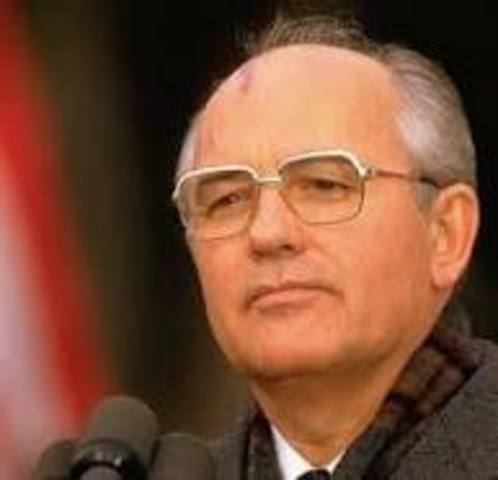 Mijail Gorbachov frente de la Urss.