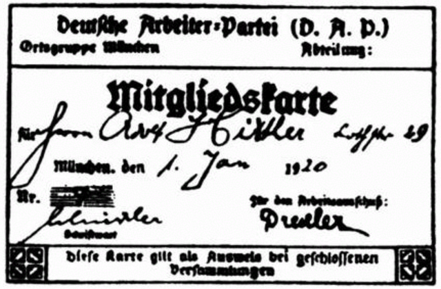 Adolf Hitler joins the German Workers' Party.