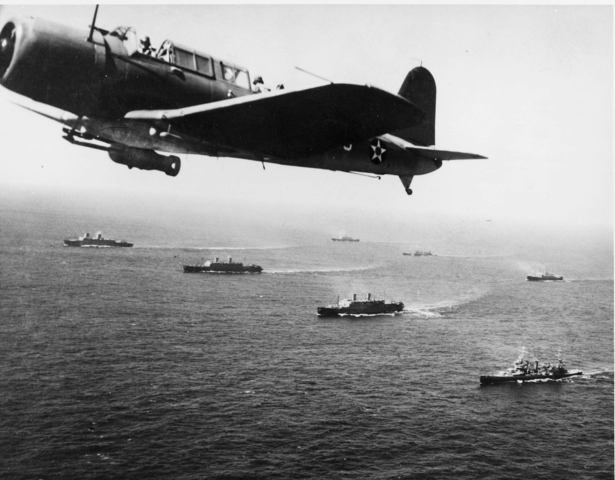 Convoy of transport ships