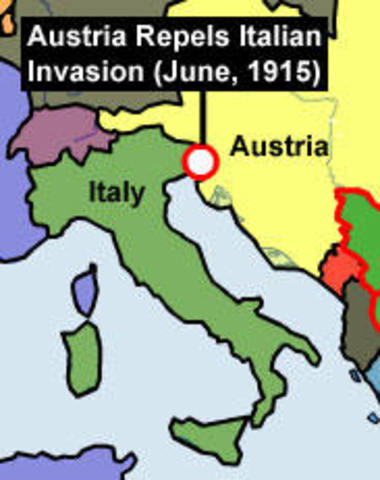Italy declared war on Germany and Austria