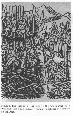40 jews killed in Brandenburg, Germany.