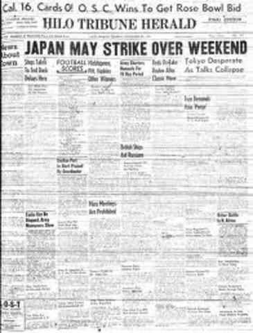 Front page on New York Herald Tribune