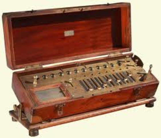 Aritmómetro. 1820-1822
