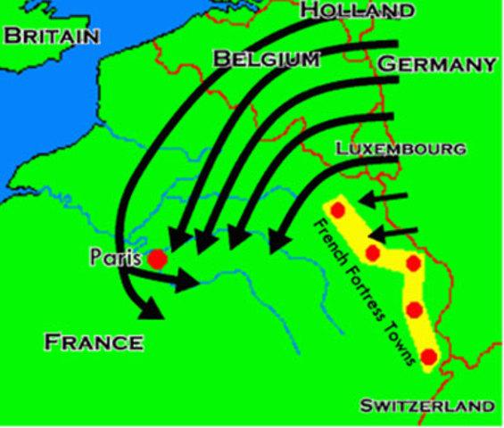 Germany declare war on France-The Schliffen Plan