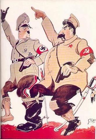 Firma Hitler con Stalin de el pacto Germano-Sovietico