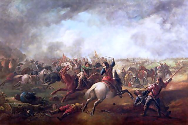 Charles 1 declares war on Parliament
