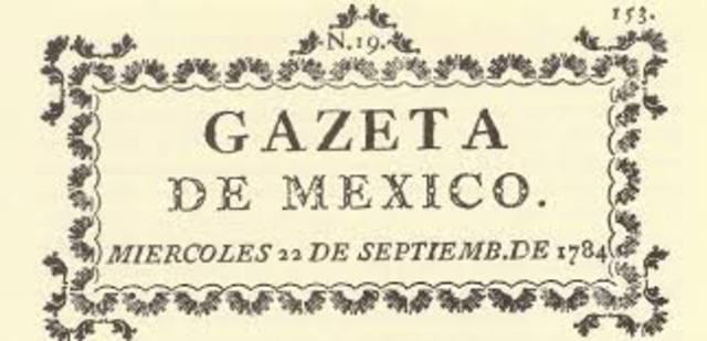 "Se publica la ""Gazeta de México"", Primer Periódico"