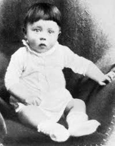 Adolf Hitler was born to Alois Hilter and Maria Anna Schickelgruber