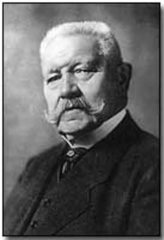 Paul Von Hindenburg elected