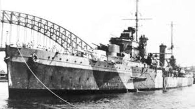 HMAS Sydney sinks German cruiser