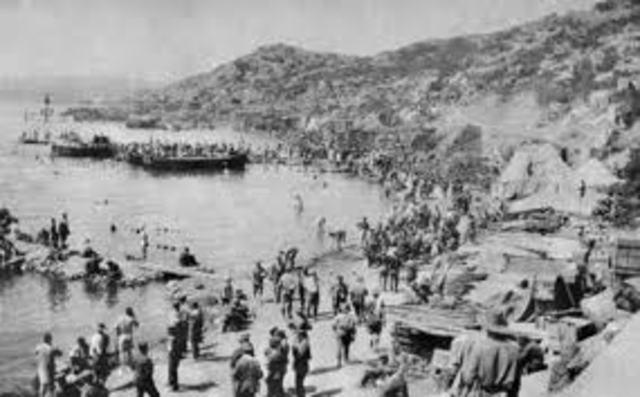 Australian Gallipoli landing