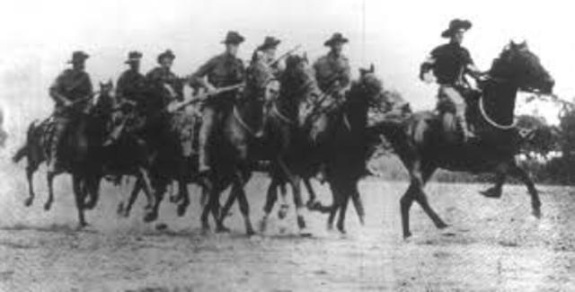 Australian Light Horse Brigade in Battle of Romani, Egypt