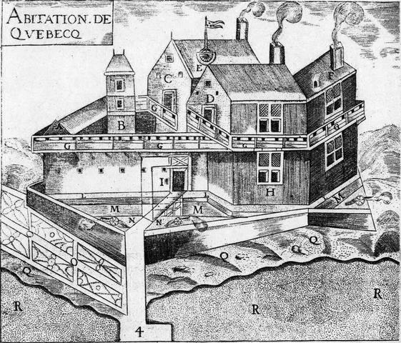 Samuel de Champlain Founds Quebec City