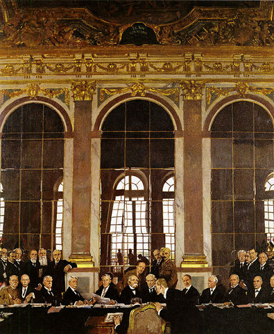 treaty of versailles signed by german