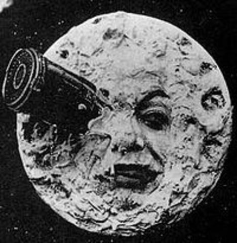 """Primera pelicula de ciencia ficción """"Viaje a la Luna"""" de George Méliès"""