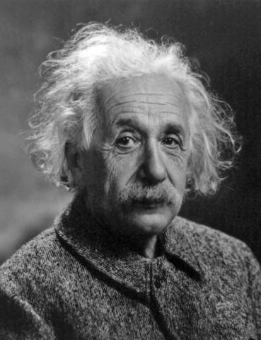 Einstein expone la teoría de la relatividad