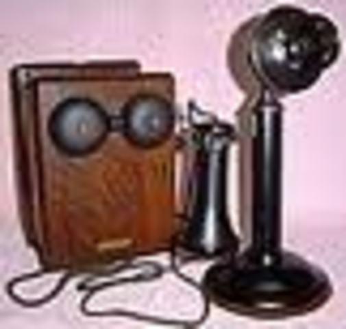 Teléfono Western Eléctric a magnetocon caja de campanillas made in U.S.A. año 1915.