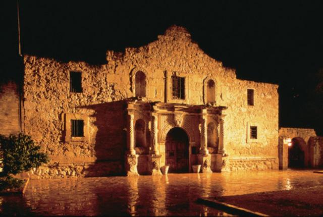 San antonio Valero (Alamo) mission is founded in Texas