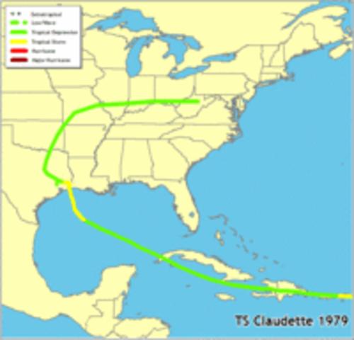 Tropical Storm Claudette 1979