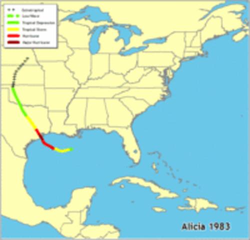Hurricane Alicia 1983