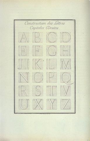 Louis Simonneau, master alphabets for the Romain du Roi