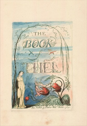 title page from The Book of Thel