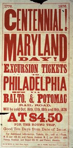 Handbill for an excursion train