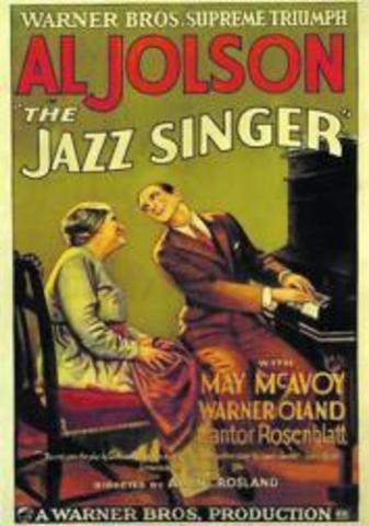 Primera película sonora (El cantor de Jazz)