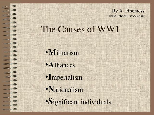 Causes of WW1.