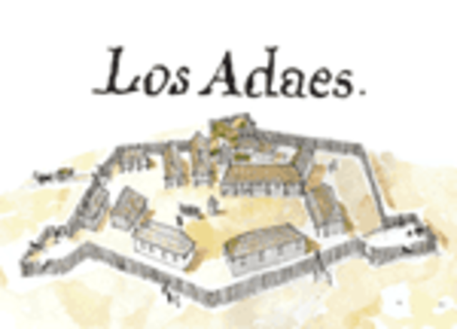 Los adaes becomes first capital in Texas