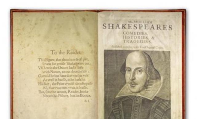 Shakespeare's first folio is published.